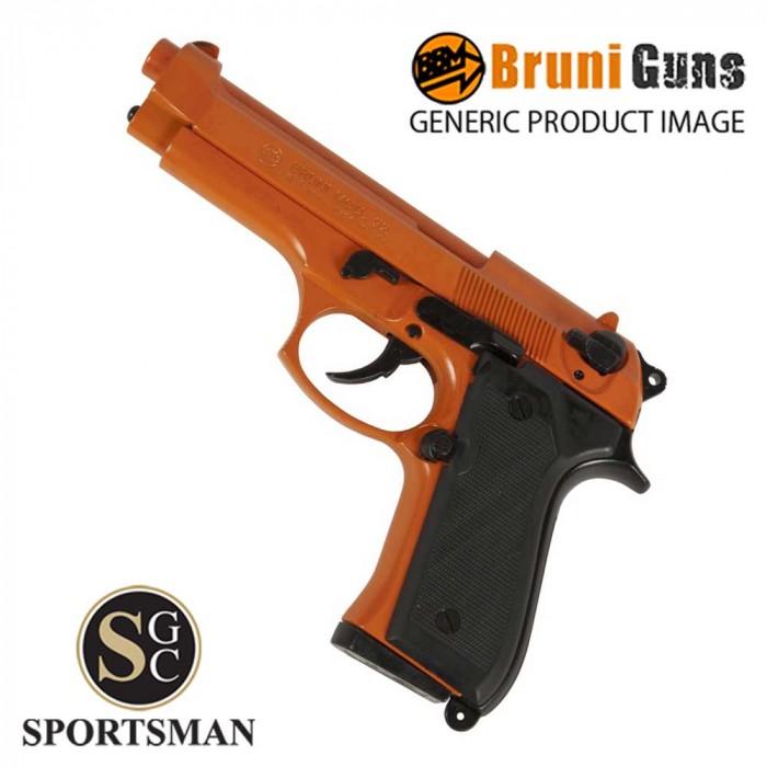 Bruni 92 8mm Orange Blank Firing Pistol