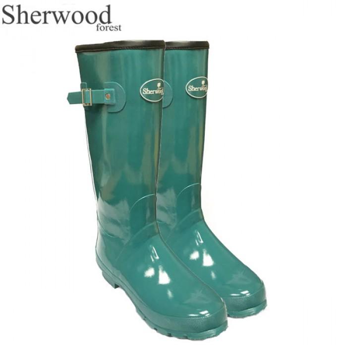Pool Shiny Green Wellies Sherwood Forest Linton Gloss Ladies Wellington Boots