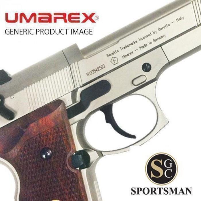 Umarex Beretta 92FS Nickel and Wood  177