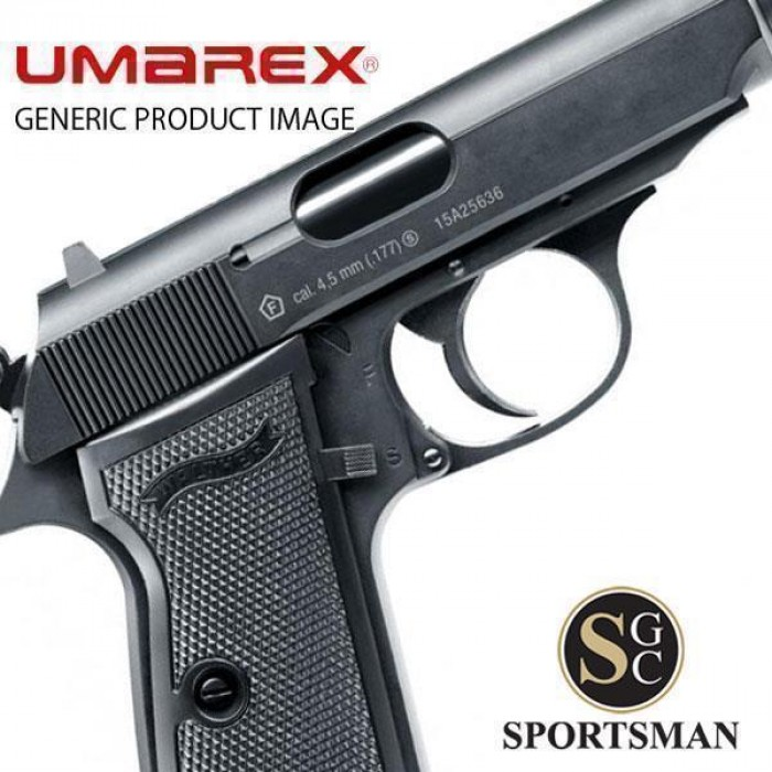 Umarex Walther PPK/S Blowback Black  177 /  177 BB