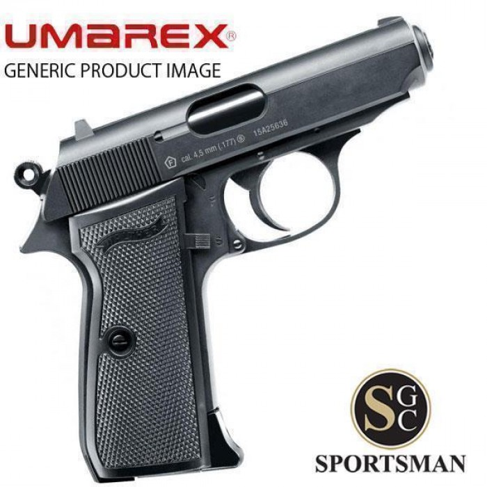 Umarex Walther PPK/S Blowback Black  177 /  177 BB