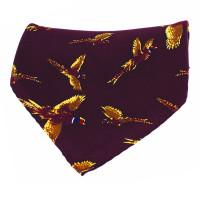 Sax Soprano Flying Pheasant Printed Silk Hanky
