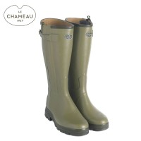 Le Chameau Chasseur Cuir Leather Lined Wellington Boots (Mens)