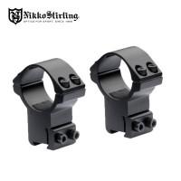 Nikko Stirling Mk2 Match Mounts 3/8 Dovetail 30mm Rings