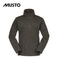 Musto Technical Wool Zip Neck Fleece Forest Green
