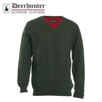 Deerhunter Brighton Knit V Neck Green