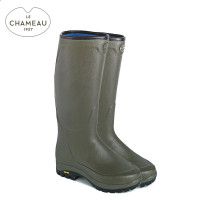 Le Chameau Country Vibram Neoprene Lined Wellington Boots - Vert Vierzon (Mens)