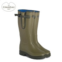 Le Chameau Vierzonord Neoprene Lined Wellington Boots 38 Calf (Ladies)