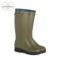 Le Chameau Chasseur Neo Neprene Lined Wellington Boots - Vert Vierzon (Ladies)