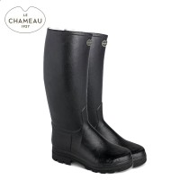 Le Chameau Saint Hubert 44 Cm Calf Leather Lined Wellington Boots - Noir (Mens)