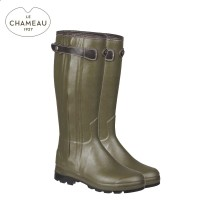 Le Chameau Chasseur Heritage Leather Lined Wellington Boots - Vert Chameau (Mens)