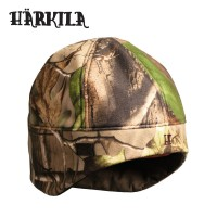 Harkila Vision Reversible Fleece Beanie Hat Realtree Apg/Orange