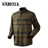 Harkila Eide Shirt - Dark Olive Check