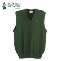 Balmoral Knitwear Tank Top Jumper with Pheasant Motif - Lopase