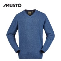Musto Shooting V Neck Knit - Blue Lake