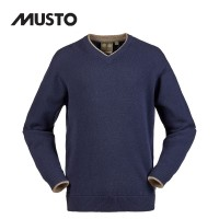 Musto Shooting V Neck Knit - True Navy