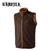Harkila Sandhem Fleece Waistcoat Dark Port Melange
