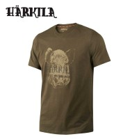 Harkila Odin Wild Boar T Shirt Willow Green