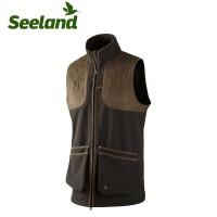 Seeland Winster Softshell Waistcoat Black Coffee