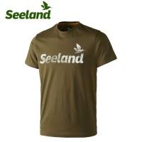 Seeland Fading Seeland T Shirt Moss Green Melange