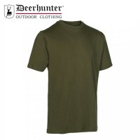 Deerhunter T Shirt Green/Brown 2pk