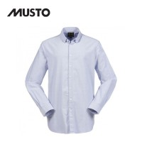 Musto Classic Button Down Oxford Shirt Pale Blue