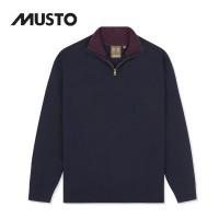 Musto Shooting Zip Neck Knit True Navy