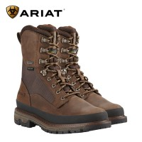 Ariat Conquest Round Toe 8 Inch Gtx 400G With Rand - Dark Brown (Mens)