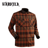 Harkila Pajala Shirt Burnt Orange Check