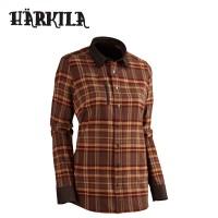 Harkila Lady L/S Shirt Burgendy Check
