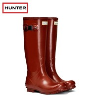 Hunter Womans Norris Field Burnt Sienna Wellington Boots (Ladies)