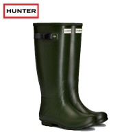 Hunter Womans Norris Field Green-Dark Olive Wellington Boots (Ladies)