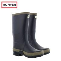 Hunter Gardener Navy/Clay Wellington Boots - (Mens)