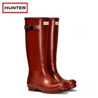 Hunter Norris Field Burnt Sienna Wellington Boots (Unisex)