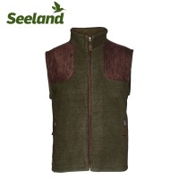 Seeland William II Fleece Waistcoat Pine Green