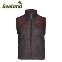 Seeland William II Fleece Waistcoat Moose Brown