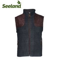 Seeland William II Fleece Waistcoat Navy Blue