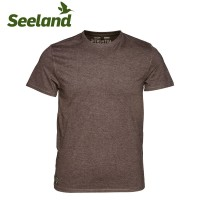 Seeland Basic T Shirt Moose Brown/Forest Night 2pk