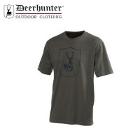Deerhunter Shield Logo T Shirt S/S Bark Green