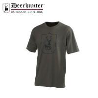 Deerhunter Shield Logo T Shirt S/S Bark Green