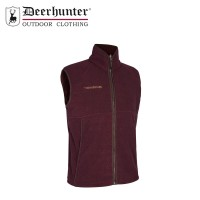 Deerhunter Wingshooter Fleece Waistcoat Burgendy
