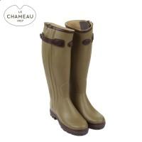 Le Chameau Chasseur Prestige - Leather Lined Wellington Boots - Vert Vierzon (Ladies)
