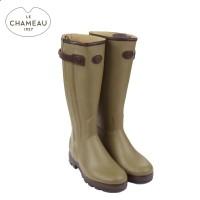 Le Chameau Chasseur Prestige - Leather Lined Wellington Boots - Vert Vierzon (Mens)