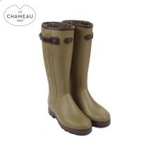 Le Chameau Chasseur Prestige - Neoprene Lined Wellington Boots - Vert Vierzon (Ladies)