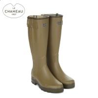 Le Chameau Chasseur Jersey Lined Wellington Boots - Vert Vierzon (Mens)