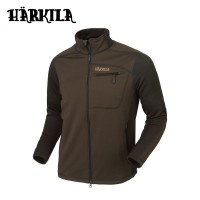 Harkila Vestmar Hybrid Fleece Jacket Slate Brown Melange