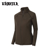 Harkila Vestmar Hybrid Lady Fleece Jacket Slate Brown Melange