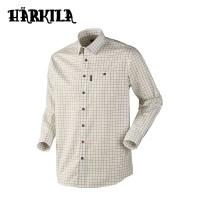 Harkila Stenstorp Shirt Bright Olive Button Under