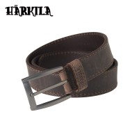 Harkila Arvak Leather Belt Deep Brown