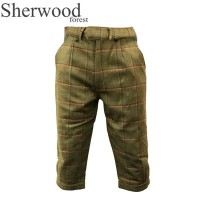 Sherwood Forest Windsor Tweed Breeks Moss Olive/ Burnt Orange Check